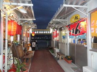軒を並べる屋台村の店舗